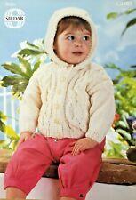 Knitting Pattern - Children's Hooded Jacket Knitted in Aran Wool