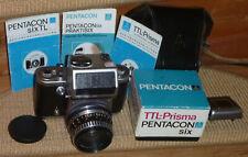 Pentacon six TL Mittelformat Kamera+ Zeiss Biometar 2.8/80+TTL Prisma+Anleitung