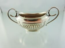 QUEEN ANN ENGLISH STERLING SALT CELLAR with HANDLES 6869 BY W&H SHEFFIELD 1910