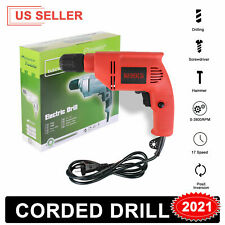 Heavy Duty Electric Corded Impact Hammer Drill 3/8