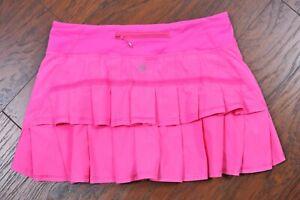 Lululemon Run: Pace Setter Skirt Pinkelicious Pink Women's 6