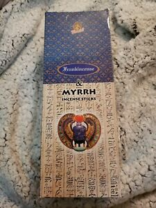 Kamini Frankincense and Myrrh Incense 120 Sticks 1 full case 6 pac Free Ship New