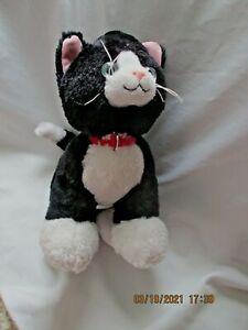 """BUILD A BEAR Promise Pets TUXEDO CAT Black White PLUSH STUFFED 13"""""""