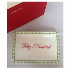 Macy's Holiday Lane Ceramic Tray - FELIZ NAVIDAD