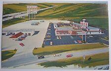 1970'S PHOTO POSTCARD DECK PLAZA I -80 & ILLINOIS 82 GENESEO IL (BEST WESTERN)