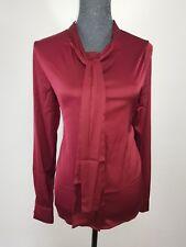Neue Sweewe Paris Damen Samt Bluse Gr M Vorne mit Zierband Langarm Rot NEU/OVP