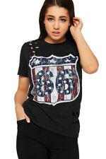 T-shirt, maglie e camicie da donna in cotone con girocollo taglia 44