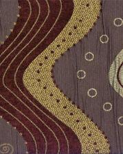 Designer Drapery Upholstery Fabric Mixed Jacquard & Chenille Waves - Grape Multi