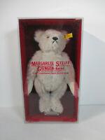 Teddybear Steiff Box White Blonde Tags Vtg Mohair Felt Paws Teddy Bear #0167/32