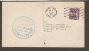 SS Santa Rosa Blue 1st Voyage January 6 1933 CZ #102