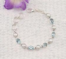 Markenlose Perle Echtschmuck-Armbänder aus Sterlingsilber