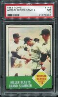 1963 Topps Baseball #145 WORLD SERIES Game 4 PSA 7 NM