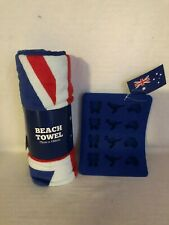 Aussie Flag Towel and Ice Tray Brand New