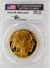 2006W PCGS 1OZ $50 GOLD BUFFALO FIRST STRIKE MERCANTI SIGNED FYOI VERY RARE