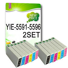 12 NON-OEM Ink Cartridge for RX700 Replace T5591 T5592 T5593 T5594 T5595 T5596