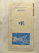 Vintage Menu Barnes Hospital St. Louis Tisdale Breakfast, Lunch & Dinner 1960s