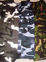 MENS CAMO COMBAT ARMY 3/4 SHORTS BIG sz 2XL 3XL 4XL 5XL