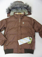 Special Blend Women's C1 Fluff Jacket - Choco Dots - Large - NWT