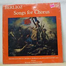 Roger Norrington BERLIOZ Songs for Chorus Argo ZRG 635 SEALED