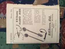 M12b ephemera 1954 Advert s g brown ltd audio aids watford handphones