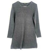 Brooks Brothers 100% Extra Fine Italian Merino Wool Sweater Dress Womens M Gray