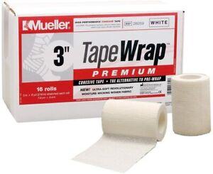 "Mueller Underwrap, PreWrap for Athletic Tape, 3"" white  roll case"
