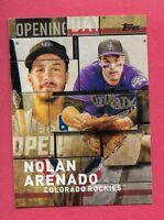 2018 Topps Opening Day OD-19 Nolan Arenado Colorado Rockies