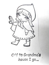 Ching-Chou Kuik riding hood girl character rubber stamp sweet pea stamps lot