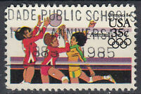 USA Briefmarke gestempelt 35c Airmail Olympics Volleyball / 2329