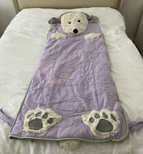 POTTERY BARN KIDS Lilac Purple Gingham Shaggy DOG 🐶 Puppy SLEEPING BAG