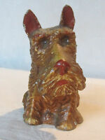 Vintage cast metal brown Scottish Terrier Scottie dog figurine #2