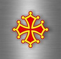 Autocollant sticker voiture moto tuning drapeau croix occitane occitan r4