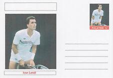 CINDERELLA 4616 - IVAN LENDL  (tennis) on fantasy Postal Stationery card