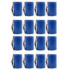 16PCS 4/5 Sub C 1600mAh 1.2V Ni-CD Rechargeable Battery Tabs Blue 22.2x34.32mm