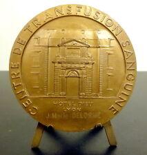 Médaille Transfusion sanguine Hôtel Dieu de Lyon Pelican protecteur 1984 Medal