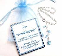 Something Blue Lucky Bridal Butterfly Anklet made with Swarovski crystals