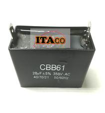 20uF Generator Capacitor 21uF 19uF CBB61 Condenser 50 60 Hz 350V 350 VAC UL AVR