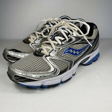 Sacony Grid Stratos 5 Mens White Blue Running Shoes Size 8