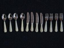 Cutlery Set Ivory Coloured Handles, Dolls House Miniatures