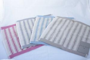 Emily Bond ~ TICKING STRIPE ~ face cloth flannel BNWT various colours