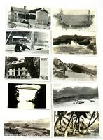 Vintage RPPC Postcards Scenic Landmarks Hawaii Nevada Alaska Ocean  (Lot of 10)