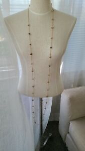 """Cezanne 66"""" rose gold tone necklace fashion jewelry faceted beads throughout"""