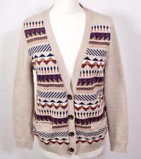 Vintage Style Aztec Cardigan 12 Retro Cream Festival Granddad Oversized Navajo