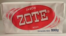 JABON Zote Barra Rosa Pink Laundry Soap Bar 200g Stain Dirt Removing Agent MEXIC