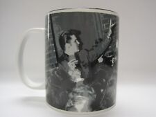 2005 Elvis Presley Coffee Cup Mug Black White Signature Wertheimer Collection