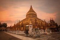 Shwezigon Pagoda Temples of Ancient Bagan Myanmar Photo Art Print Poster 18x12 i