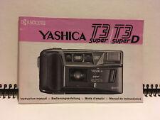 Yashica T3 Super / T3 Super D Instruction Manual Bedienungsanleitung