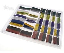 500pcs Heat Shrink Shrinkable Tubing Tube Crimp Wrap Wire Various Colors Sizes