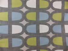 Prestigious Textiles Docklands Fabric Remnant Off Cut Blue Lime Green Grey