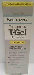 Vintage, NEUTROGENA T/Gel Therapeutic Shampoo Extra Strength 1% Coal Tar 6 oz